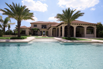 swimming pool in luxury home