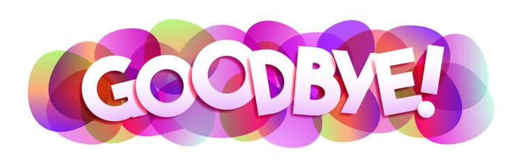 Goodbye! word vector banner
