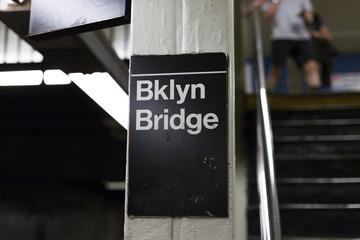 Subway, Brookly Bridge, New York City