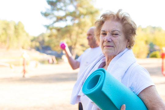 older people doing outdoor sports