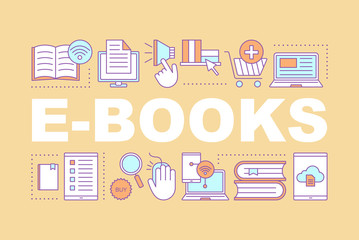 E-books store word concepts banner