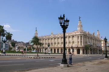 Gran Teatro De La Habana Alicia Alonso , Street Lamp, People