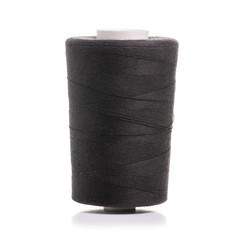 thread black sewing isolated on white background