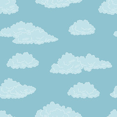 Clouds graphic color seamless pattern sketch background illustration vector