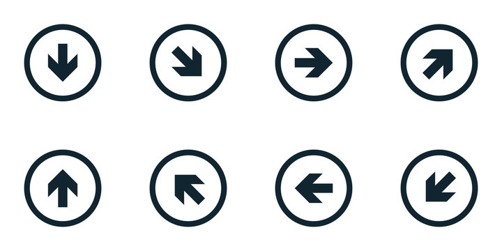 Arrow buttons set illustration