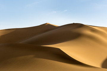 Acrylic Prints Desert beautiful sand dunes at dusk