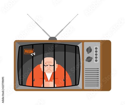 Prison TV news old television  Prisoner Live broadcasting  jailbird