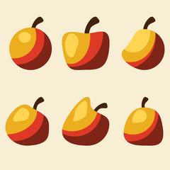 apples set vector illustration