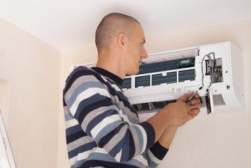 Installation of air conditioner