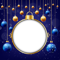 Christmas background, Text input box,Blue background