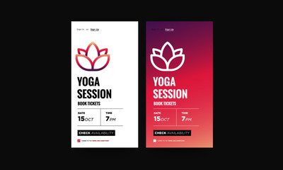 Yoga Session App UX UI Design for smart phones