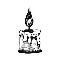 candle sketch icon. isolated object