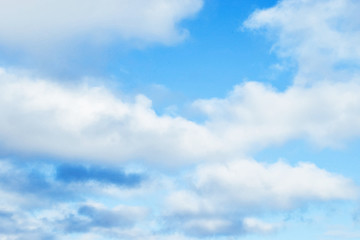 Blue sky background with white clouds and nature background