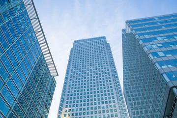 Corporate buildings of Canary Wharf, banks, insurances, media holdings. London, UK