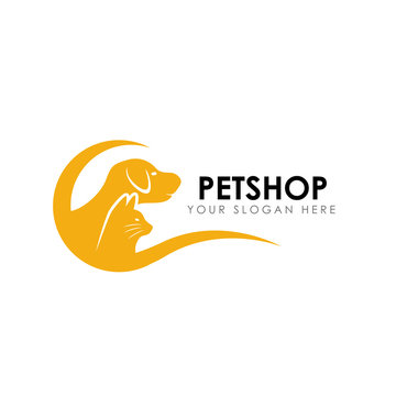 pet shop logo design template. pet home logo design vector icon