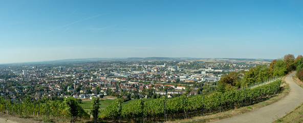 City view from Wartberg winery, Heilbroon Germany