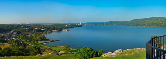 Foto op Plexiglas Rivier Hudson River panorama at Peekskill New York