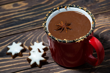 winter drink hot chocolate