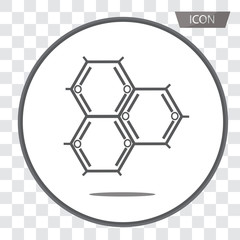 Biochemistry Icon. Flat Design. Isolated Molecule structure,Atom icon vector , atom symbols isolated on transparent background.