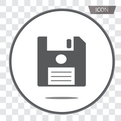 Save vector icon, floppy disk vector icon , save symbols isolated on transparent background.