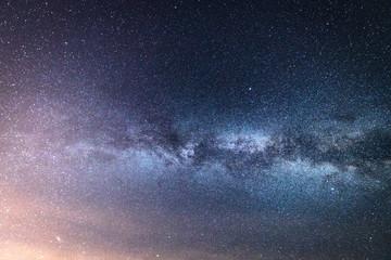 Milky Way Galaxy. Many Stars And Star Dust. Panorama HD.