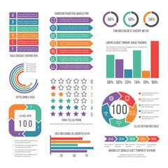 Infographic. Modern workflow marketing diagram. Statistic charts and stock infocharts. Business presentation report vector infographics. Infochart diagram for presentation information illustration