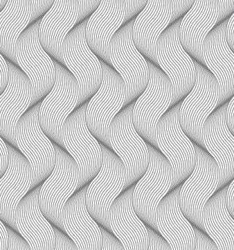 Seamless pattern with geometric waves