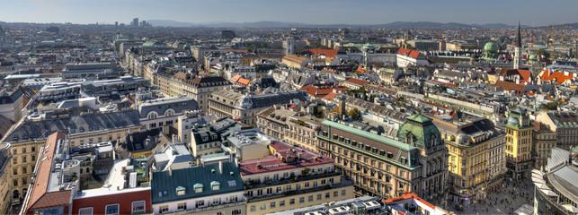 Blick vom Stephansdom über das südliche Wien