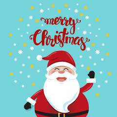 Happz Santa Christmas cartoon illustration