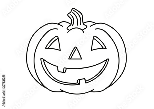 Halloween Kurbis Ausmalbild Stock Image And Royalty Free Vector
