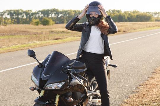 Biker lady