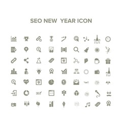 seo new year icon