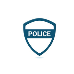Police icon illustration flat design