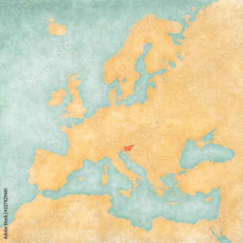Map of Europe - Slovenia\