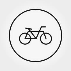Bicycle. Universal Icon. Vector. Editable Thin line.