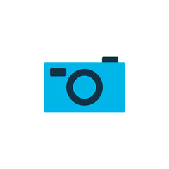 Photo camera icon colored symbol. Premium quality isolated capture element in trendy style.