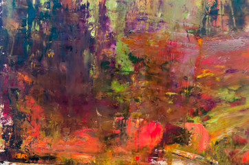 Abstract oil painting background. Oil on canvas texture. Hand drawn oil painting.Color texture. Fragment of artwork. Brushstrokes of paint. Modern art. Contemporaryart . Watercolor drips