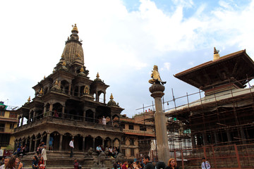 The Khrisna Mandir Temple of Patan Durbar Square