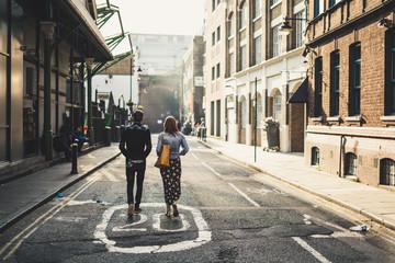 Nice couple walking