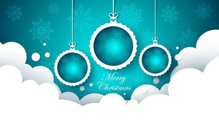 Happy new year ball. Merry Christmas. Vector eps 10