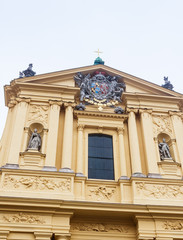 Fragment of The Theatine Church of St. Cajetan (Theatinerkirche St. Kajetan), a Catholic church in Munich, founded by Elector Ferdinand Maria and his wife, Henriette Adelaide of Savoy