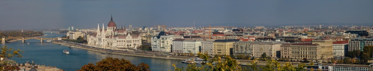 A panorama over Budapest city, capital of Hungary
