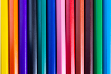 Line of bright color pencil are used as background images
