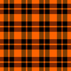 Halloween Tartan plaid. Scottish cage background