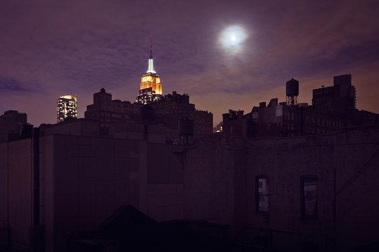 Midtown Manhattan after Hurricane Sandy