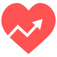 heart graph icon