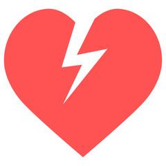 heart lightning icon
