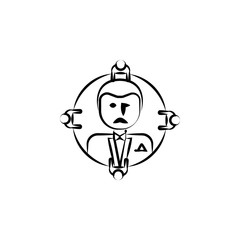 godfather, Mafioso, gang, criminal icon. Element of crime icon for mobile concept and web apps. Hand drawn godfather, Mafioso, gang, criminal icon can be used for web and mobile