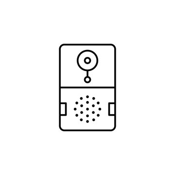Smart doorbell icon. Element of smart house icon for mobile concept and web apps. Thin line Smart doorbell icon can be used for web and mobile