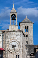 The clock on the medieval Iron Gate Clock Tower in Split, Croatia has 24 digits instead of the usual 12.